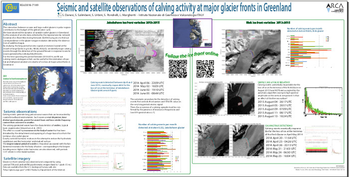 Seismic and satellite observations of calving activity at major glacier fronts in Greenland